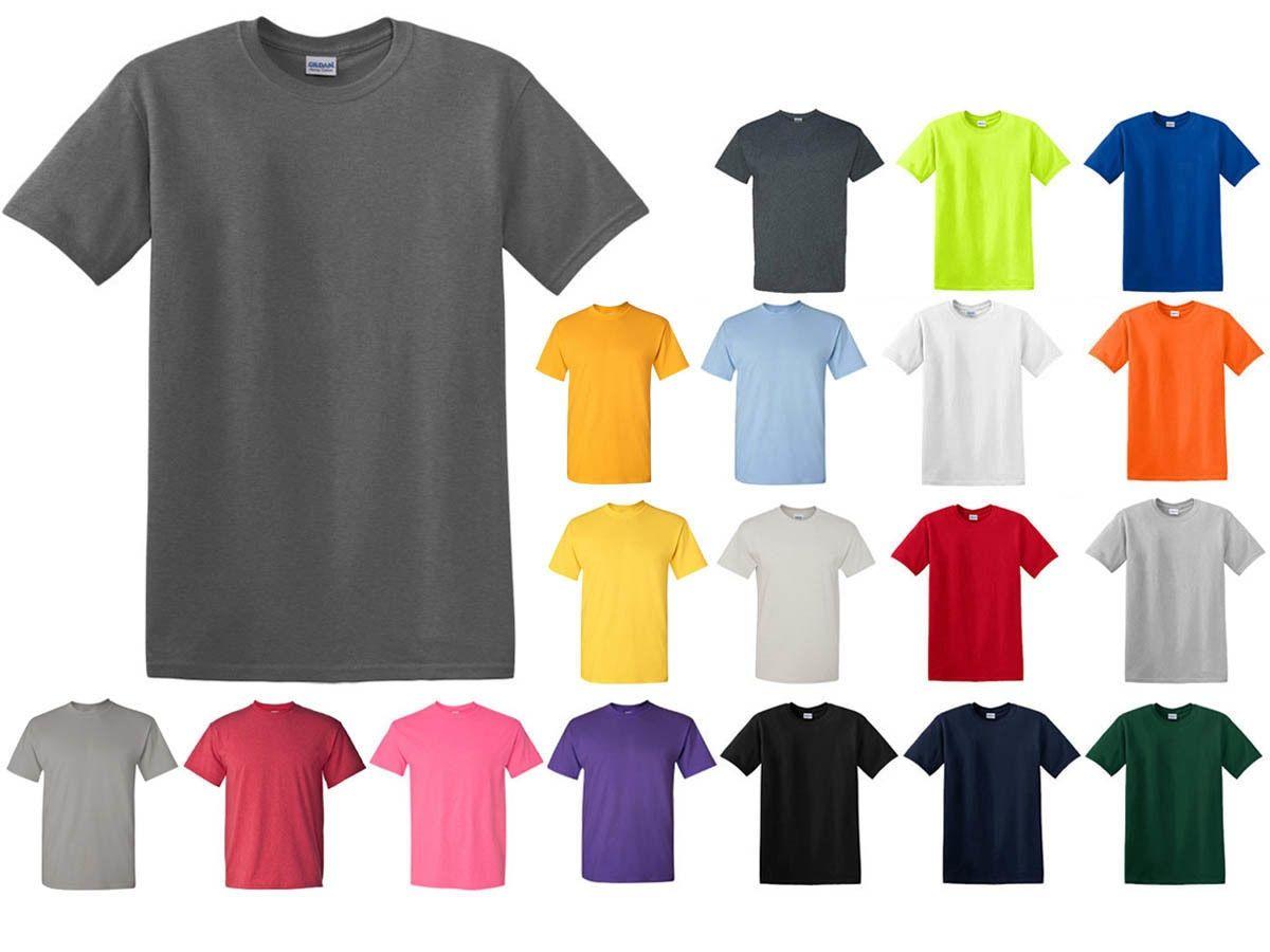 Mens Heavy Cotton t-shirt Gildan Soft Feel Plain T Shirt Lot