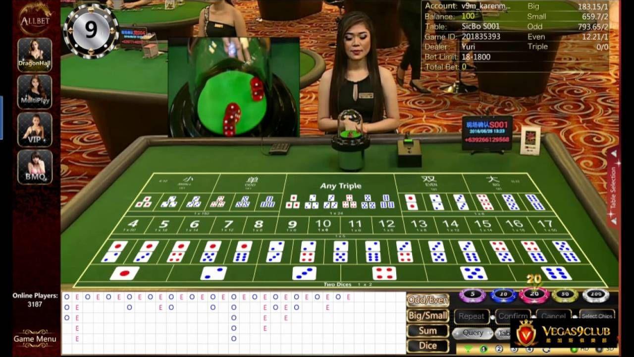 ALLBET 9King Online Live Casino Dragon Hall Sic Bo Malaysia