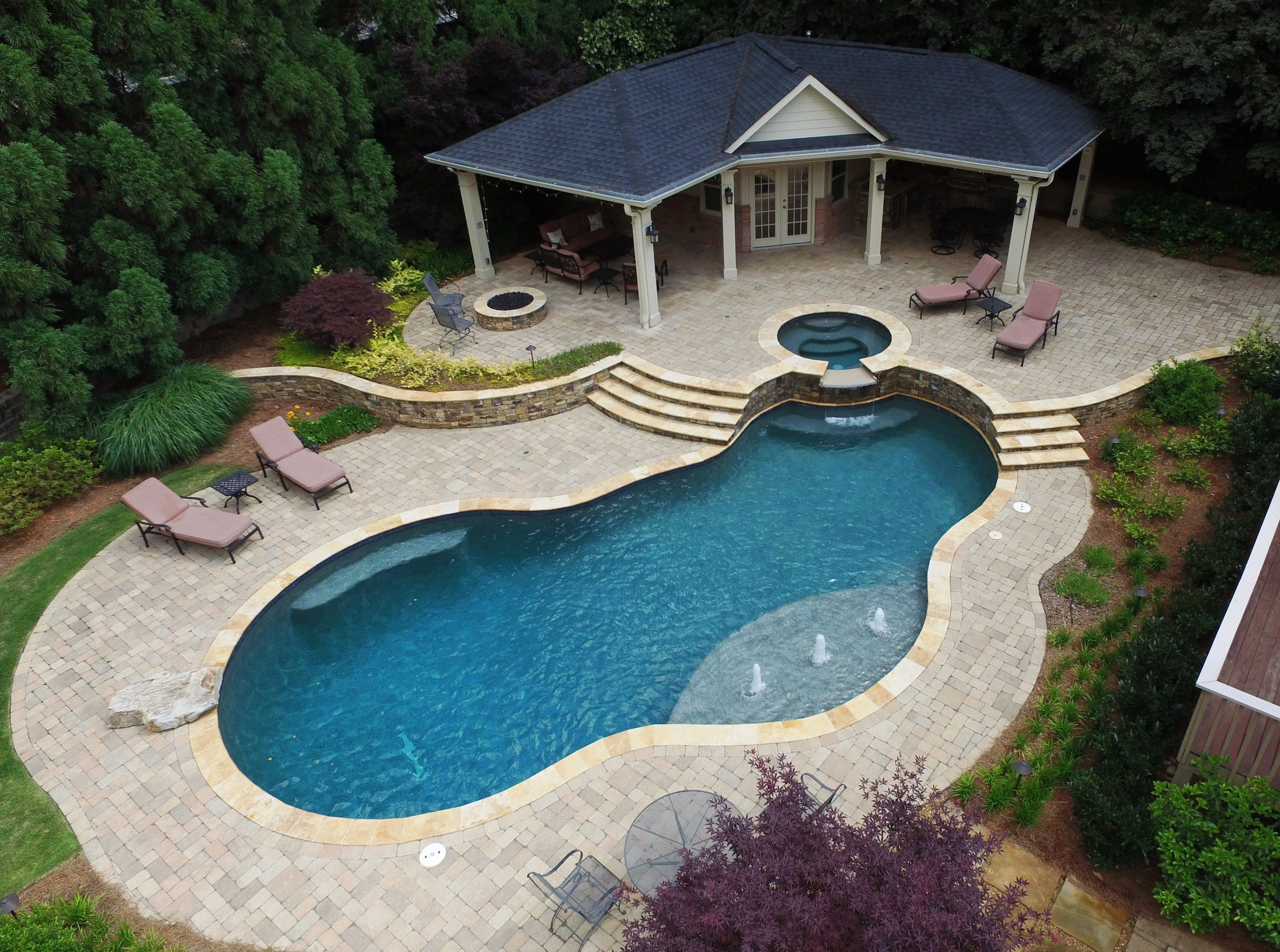 Fabulous Swimming Pool With Spa Designs Home To Z In 2020 Swimming Pool Photos Gunite Swimming Pool Custom Swimming Pool