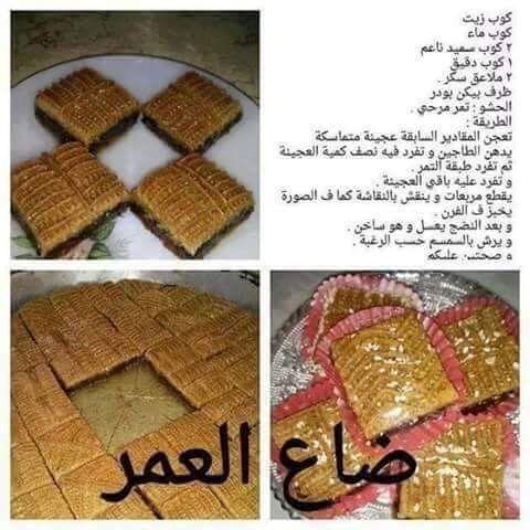 تمرية ممدودة Date Cake Food Bread