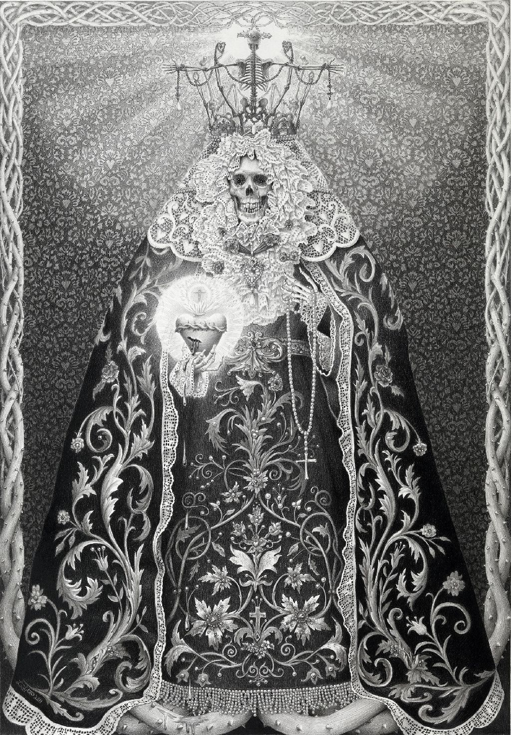 "thefugitivesaint:  ""Laurie Lipton, 'La Luz ' (The Light), 2011  """