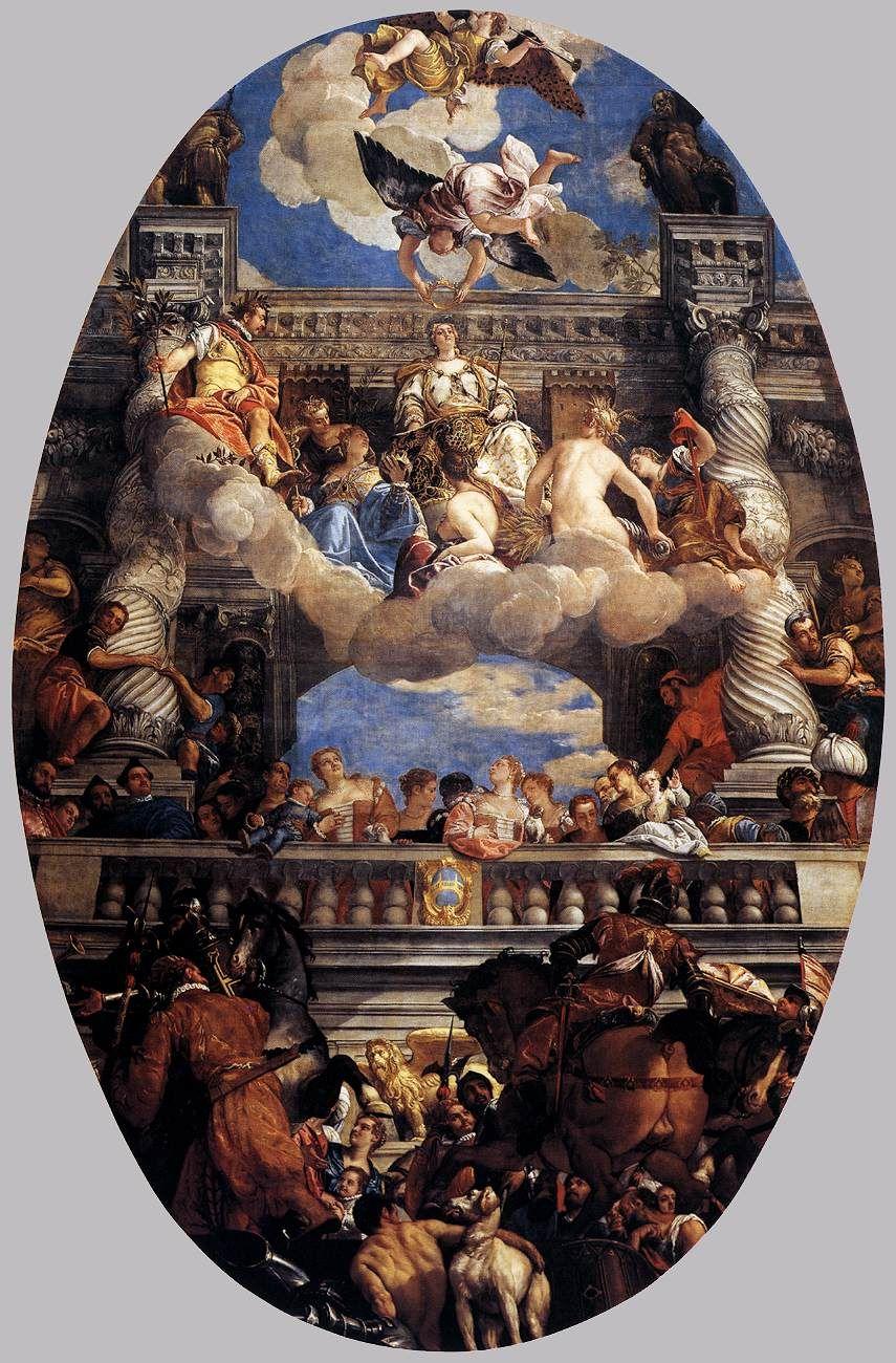 De apothesose van Venetië ~ 1585 ~ Olieverf op doek ~ 904 x 579 cm. ~ Palazzo Ducale, Venetië