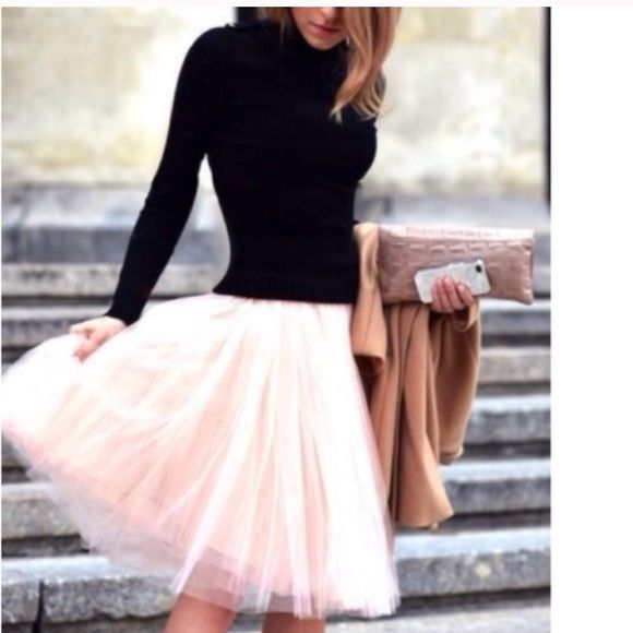 27730d0bba Spotted while shopping on Poshmark: CUSTOM MADEBEAUTIFUL PINK TULLE SKIRT!!  #poshmark #fashion #shopping #style #Dresses & Skirts