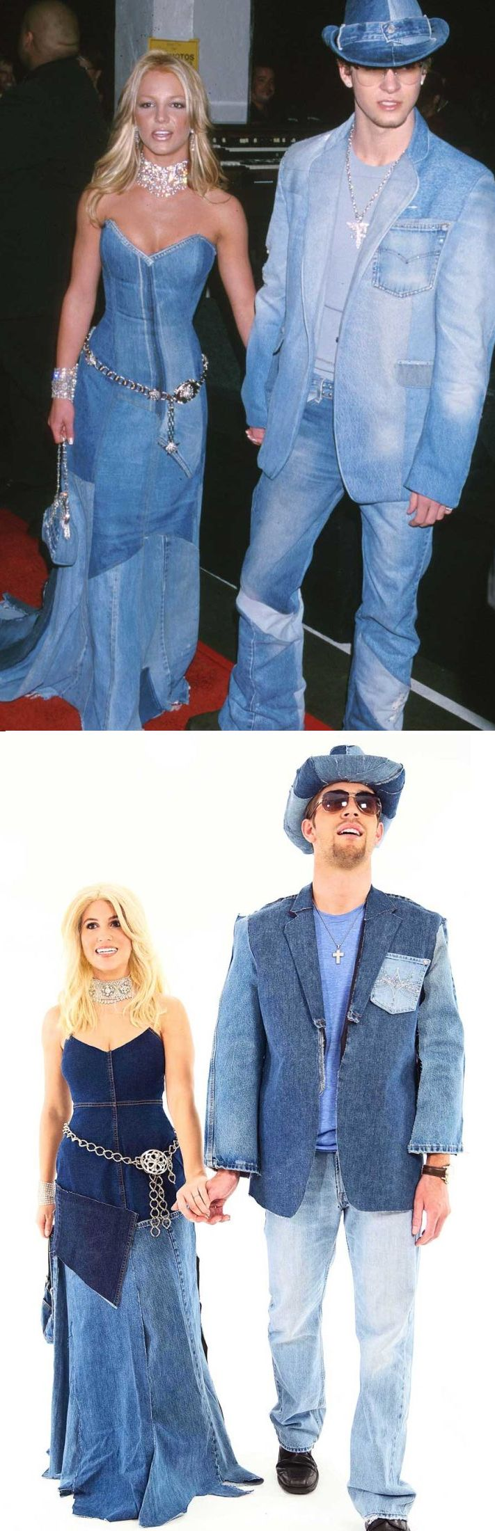198ee58924996 How to make a denim Britney and Justin costume for Halloween