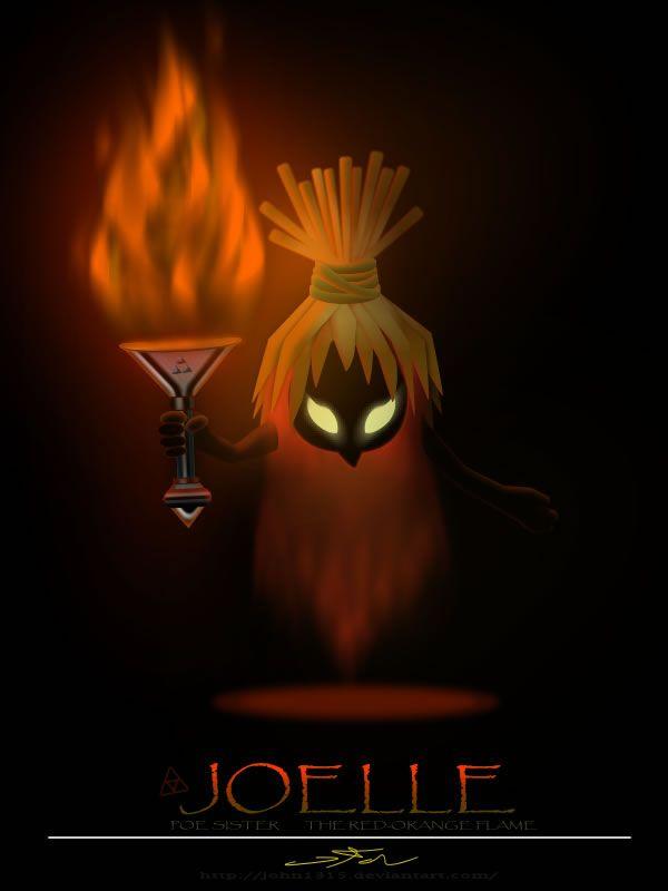 Red-Orange Flame Poe Sister by ~john1315 on deviantART