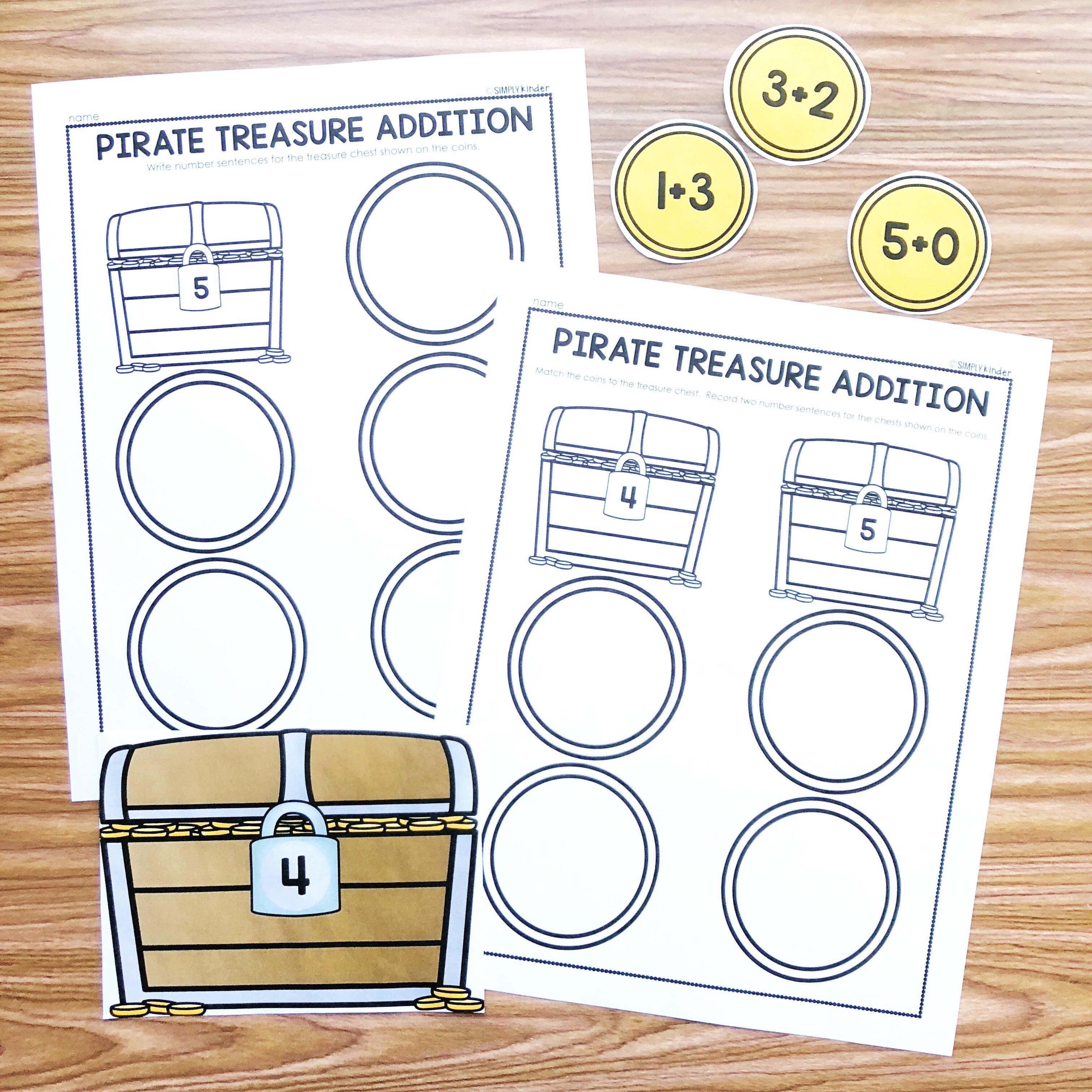 Free Pirate Math Facts Practice