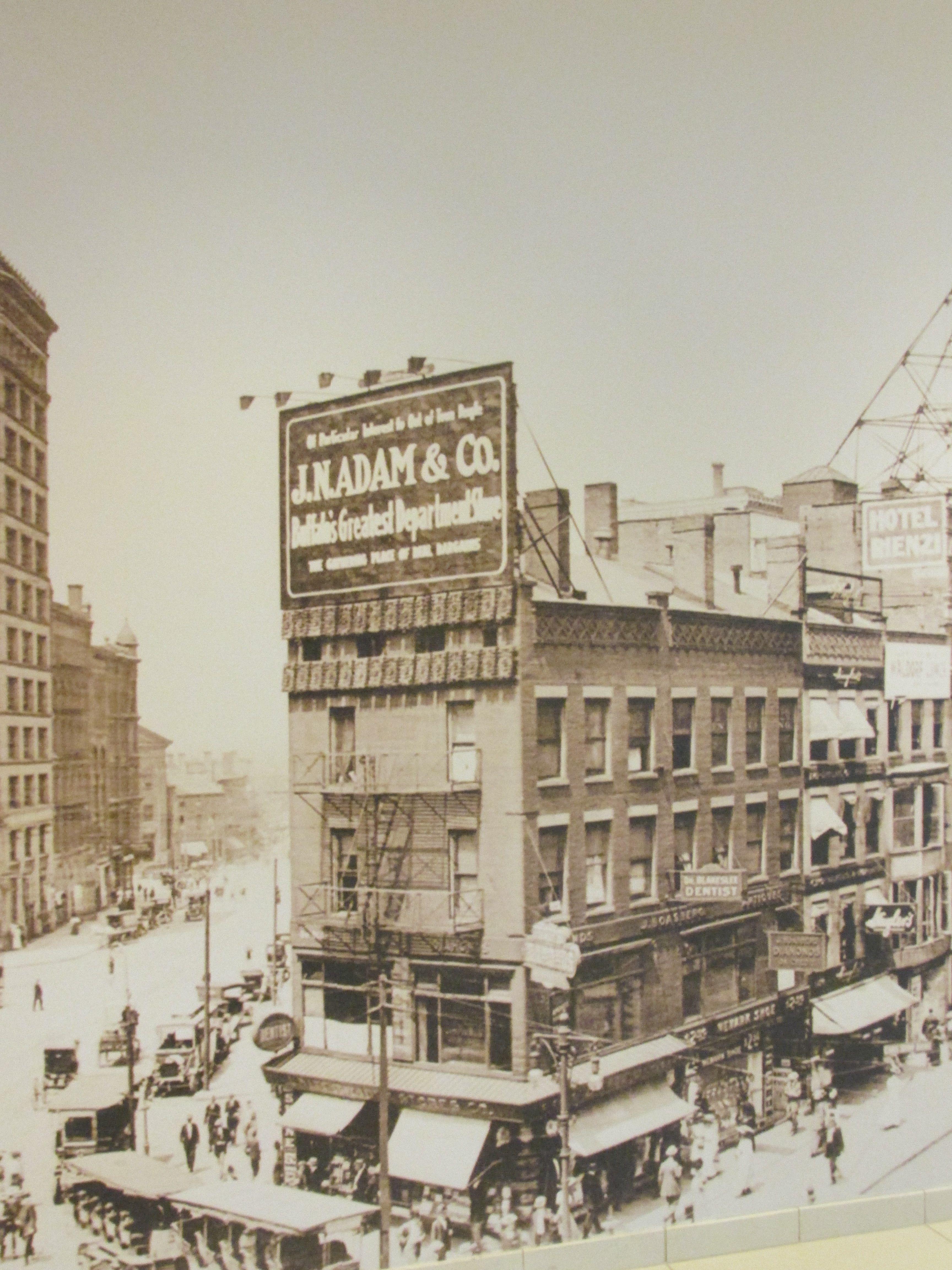 Street In Downtown Buffalo Ny Probably In 1920s Buffalo Ny