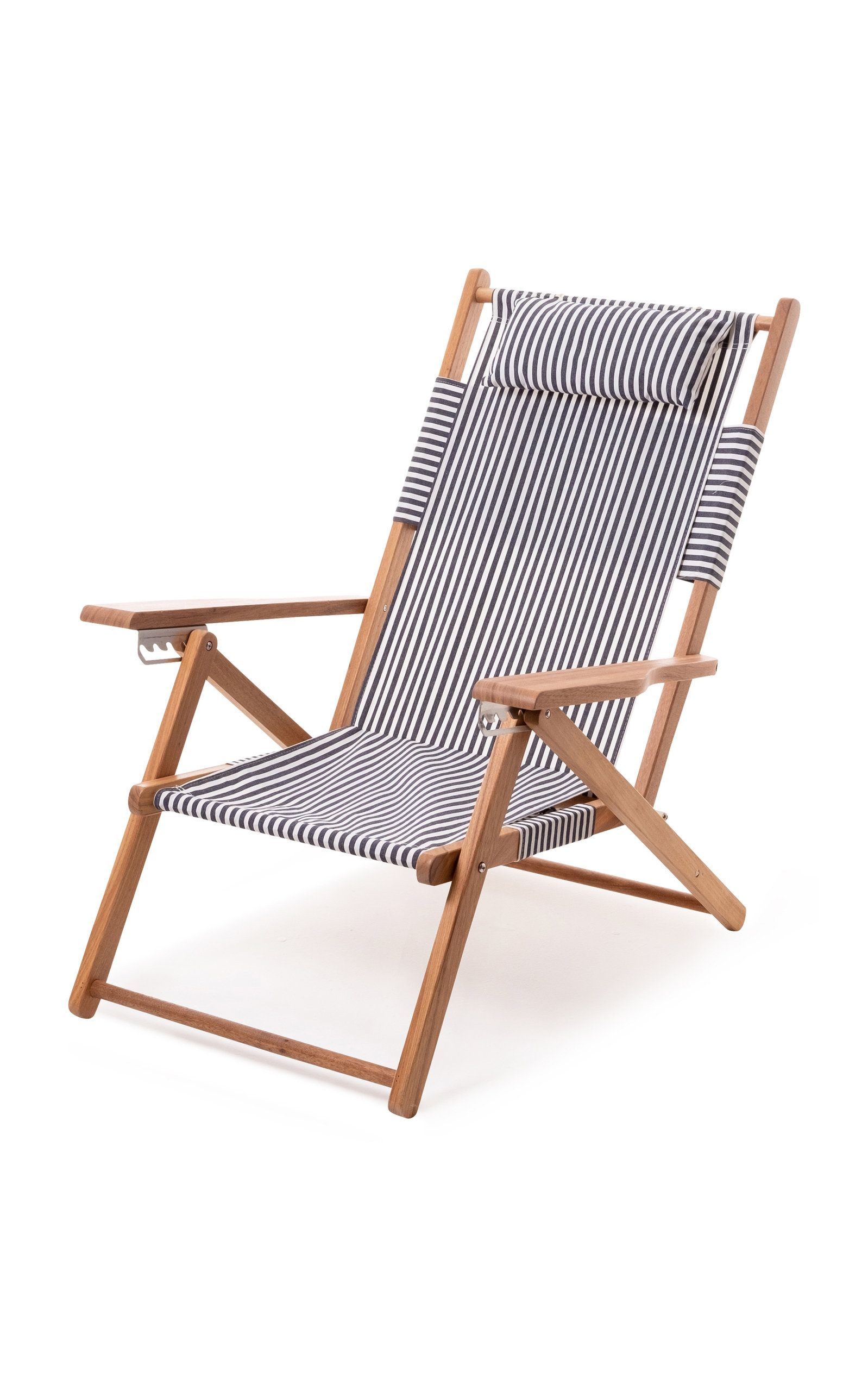 Business Pleasure Tommy Striped Canvas Beach Chair Outdoor Stuhl Strandstuhl Stuhle