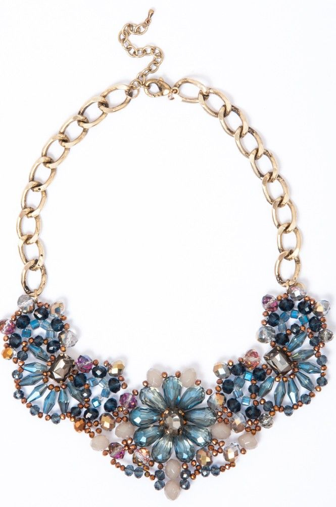 Blue Bouquet Necklace