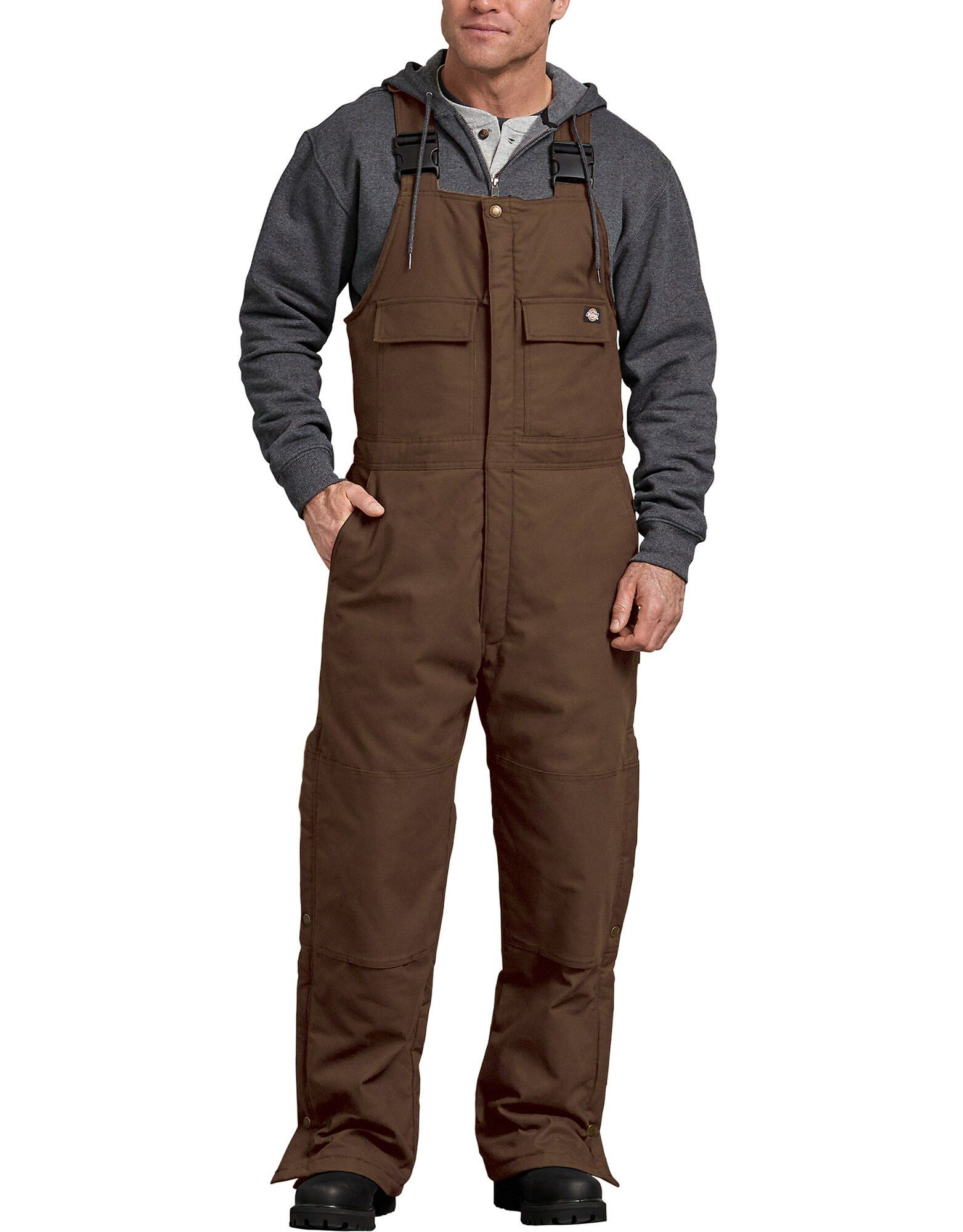 flex sanded duck insulated bib overalls timber brown in on insulated overalls id=23928