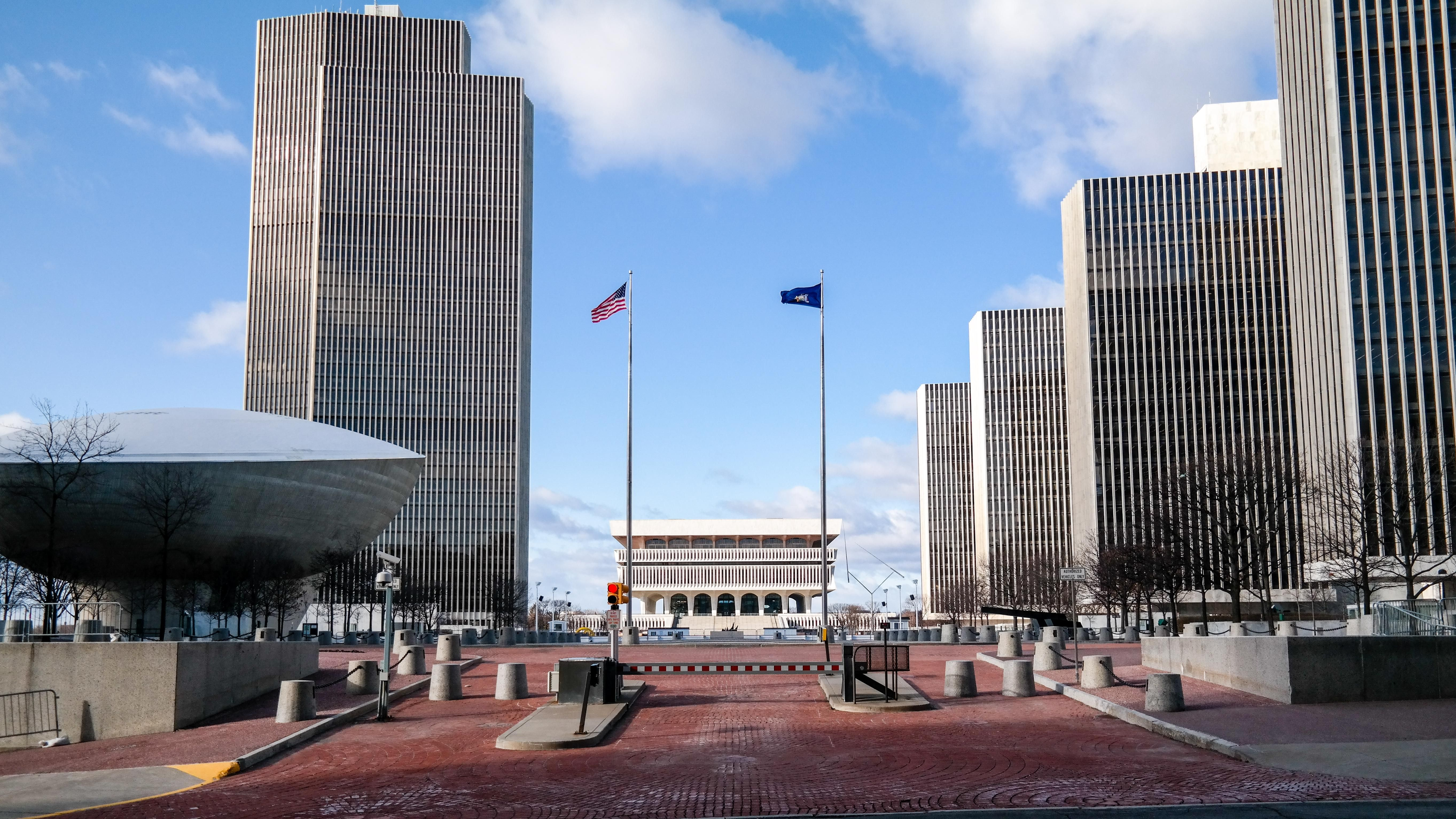 Building Empire State Plaza Albany New York Empire State Albany New York Building
