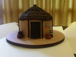 a freaking rondavel cake! awesome!