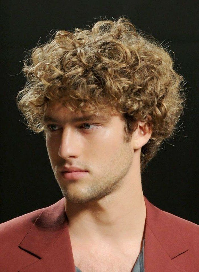 haarschnitt mit locken manner - frisur