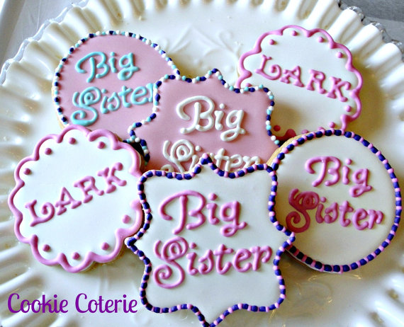 Big Sister Big Brother Decorated Sugar Cookies By Cookiecoterie