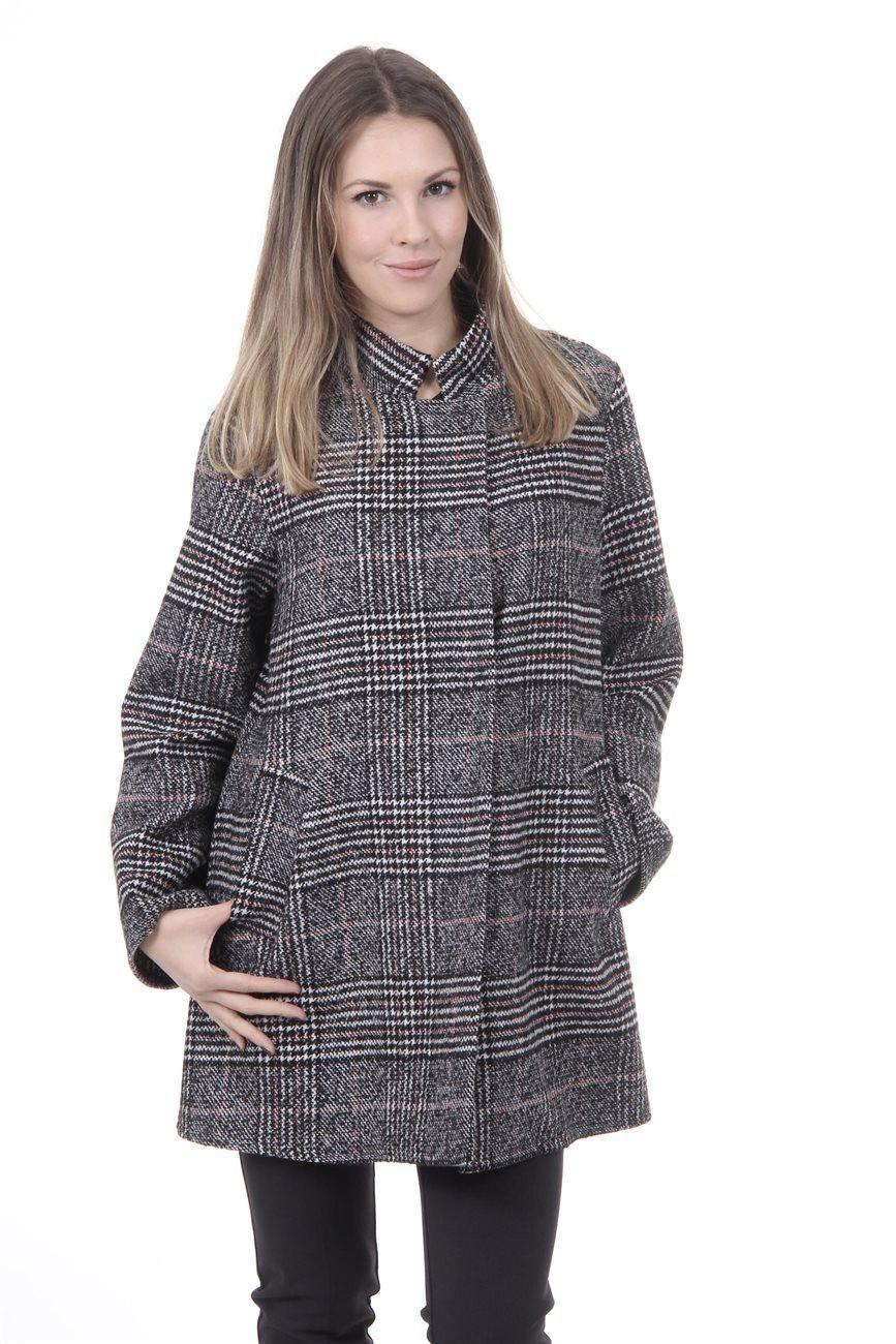 Versace 19.69 Abbigliamento Sportivo Srl Milano Italia Womens Coat CAPPOTTO SARDEGNA TESS. GALLES COL. GRIGIO/61