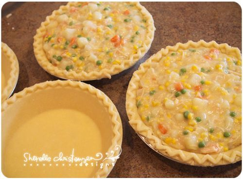 Chicken pot pie filling - but no crust and use baking powder biscuits recipe for top.