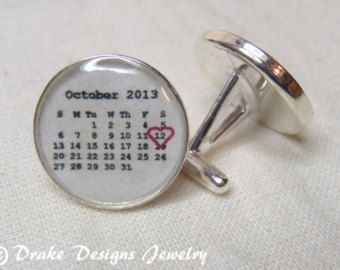 Personalized calendar necklace first anniversary paper gifts