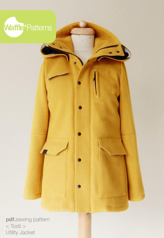 pdf sewing pattern Utility Jacket -Tosti- size 34-48 Waffle ...
