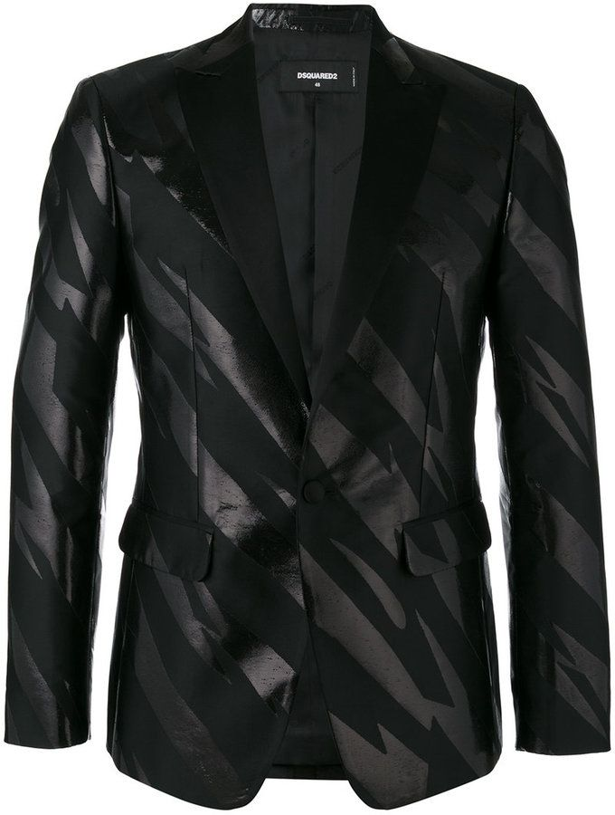 Dsquared2 striped tuxedo jacket