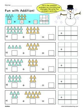 Grade 1 Addition Sample Worksheet Making Math Visual Free Math Free Math Worksheets Kids Math Worksheets