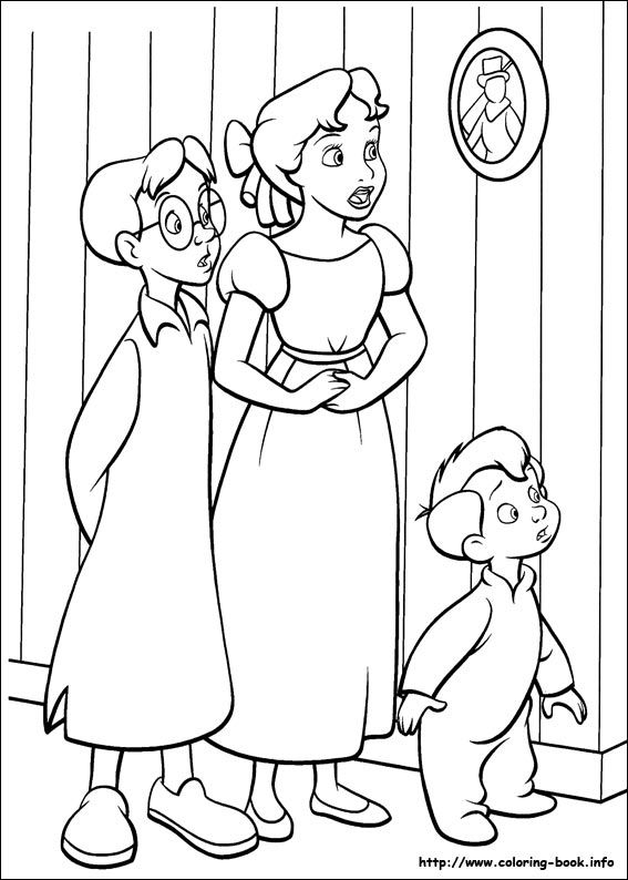 Peter Pan coloring picture | Kenzie | Pinterest | Peter pans ...