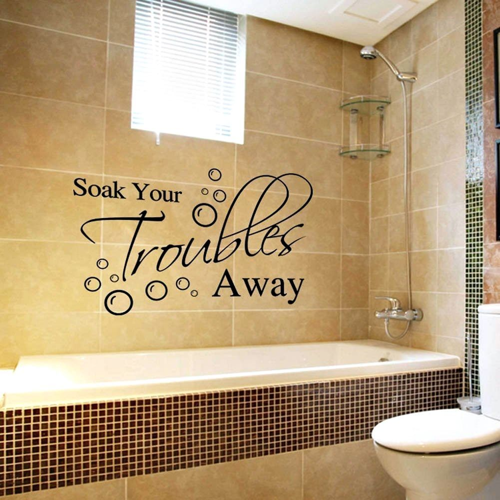 New Removable Decal Art Mural Home Bathroom Decor Quote Wall Sticker ...