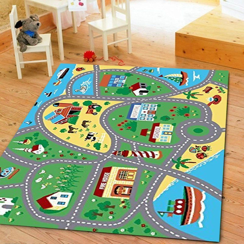 Childrens Street Map Rug
