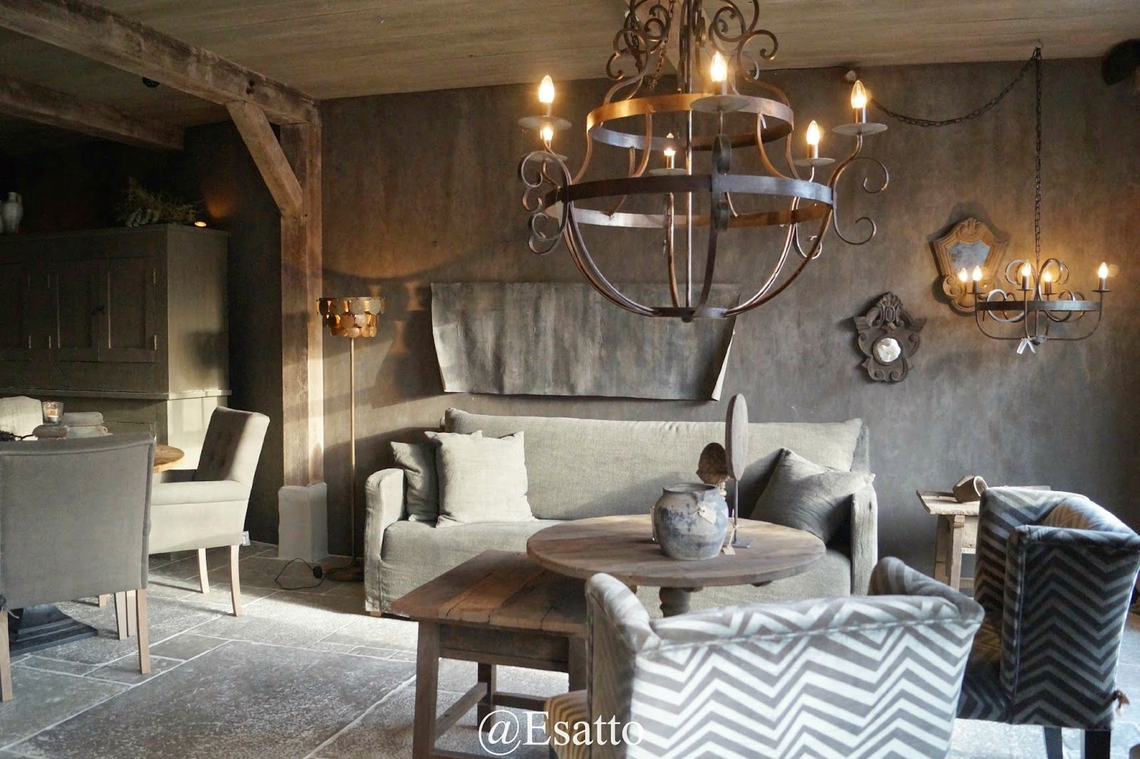 landelijke woonkamer | Pillow talk | Pinterest - Verlichting ...