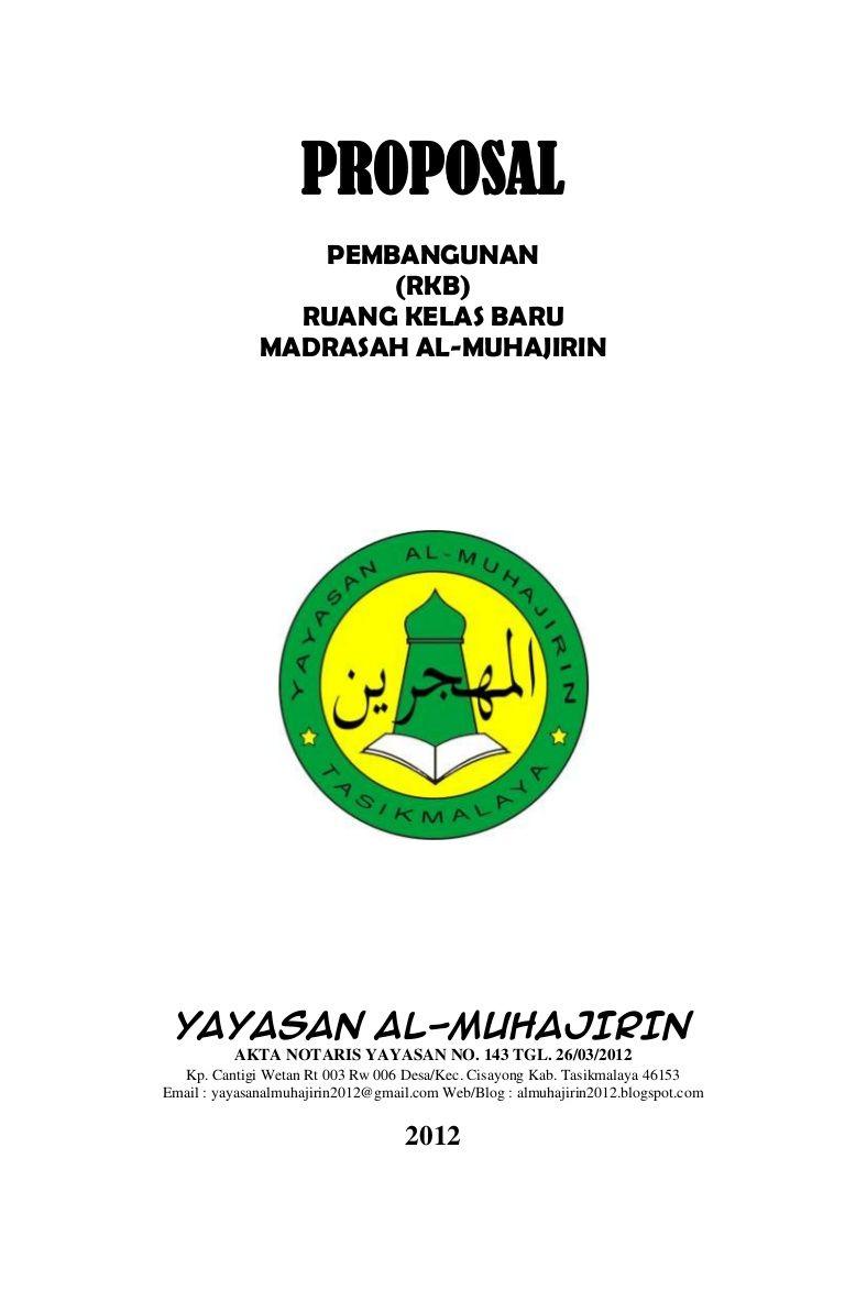 Proposal Yayasan Al Muhajirin By Dawaihati Dadan Via Slideshare