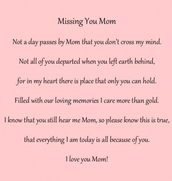 For My Mom And Dad Miss Them Both So Much Imissyouquotesforhim Miss Mom I Miss My Mom Mom In Heaven Quotes