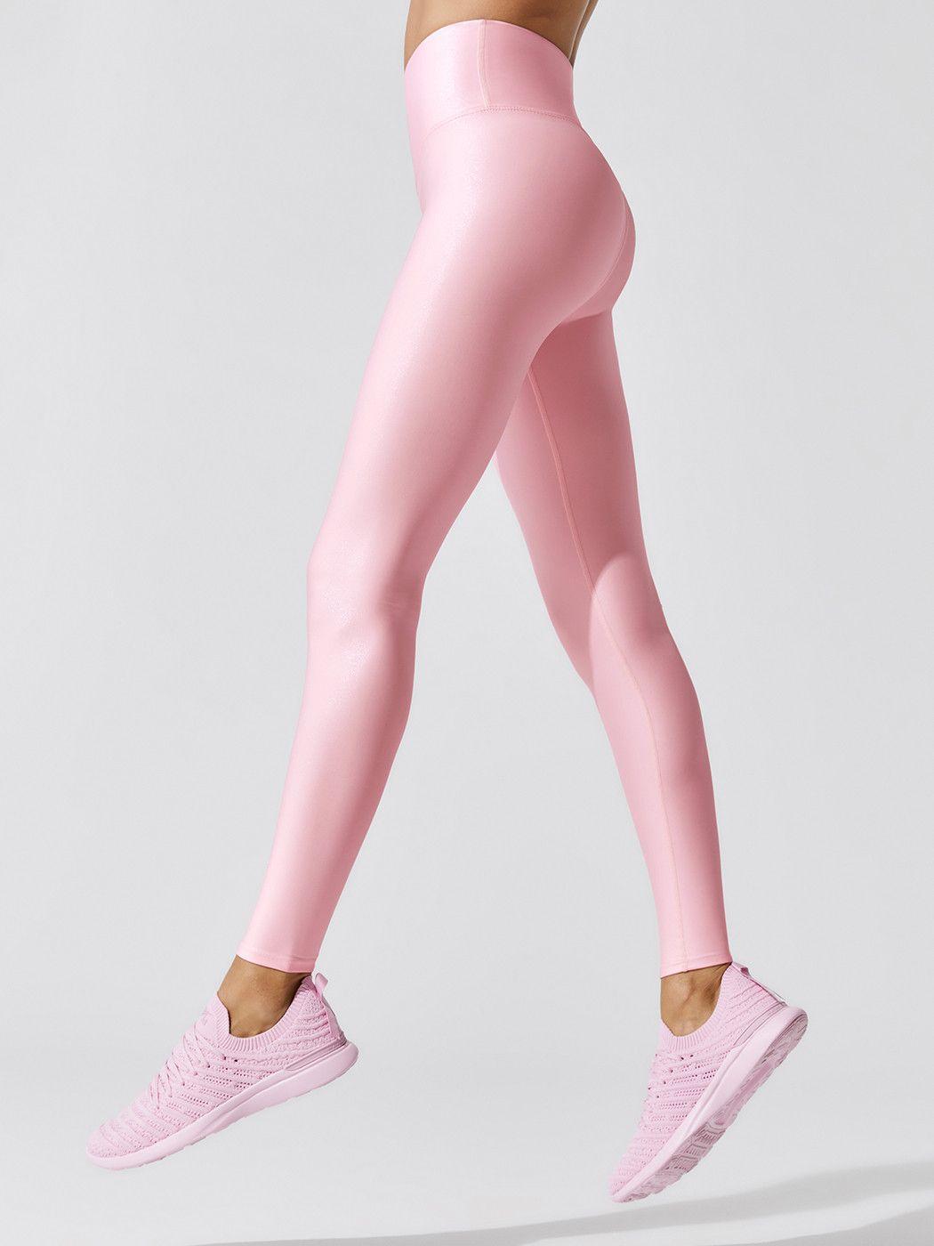 Gloss Full Length Leggings in Pink