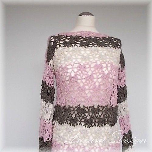 Photo of Crochet tunic /// Mini dress with lace pattern