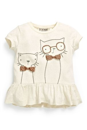 Buy Textured Cat Peplum Top (3mths-6yrs) from the Next UK online ...