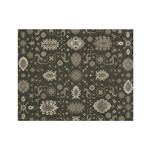 juno grey patterned wool rug 8 39 x10 39 rick. Black Bedroom Furniture Sets. Home Design Ideas