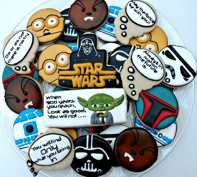 Star Wars Star wars cookies Sugaring and Cookie designs
