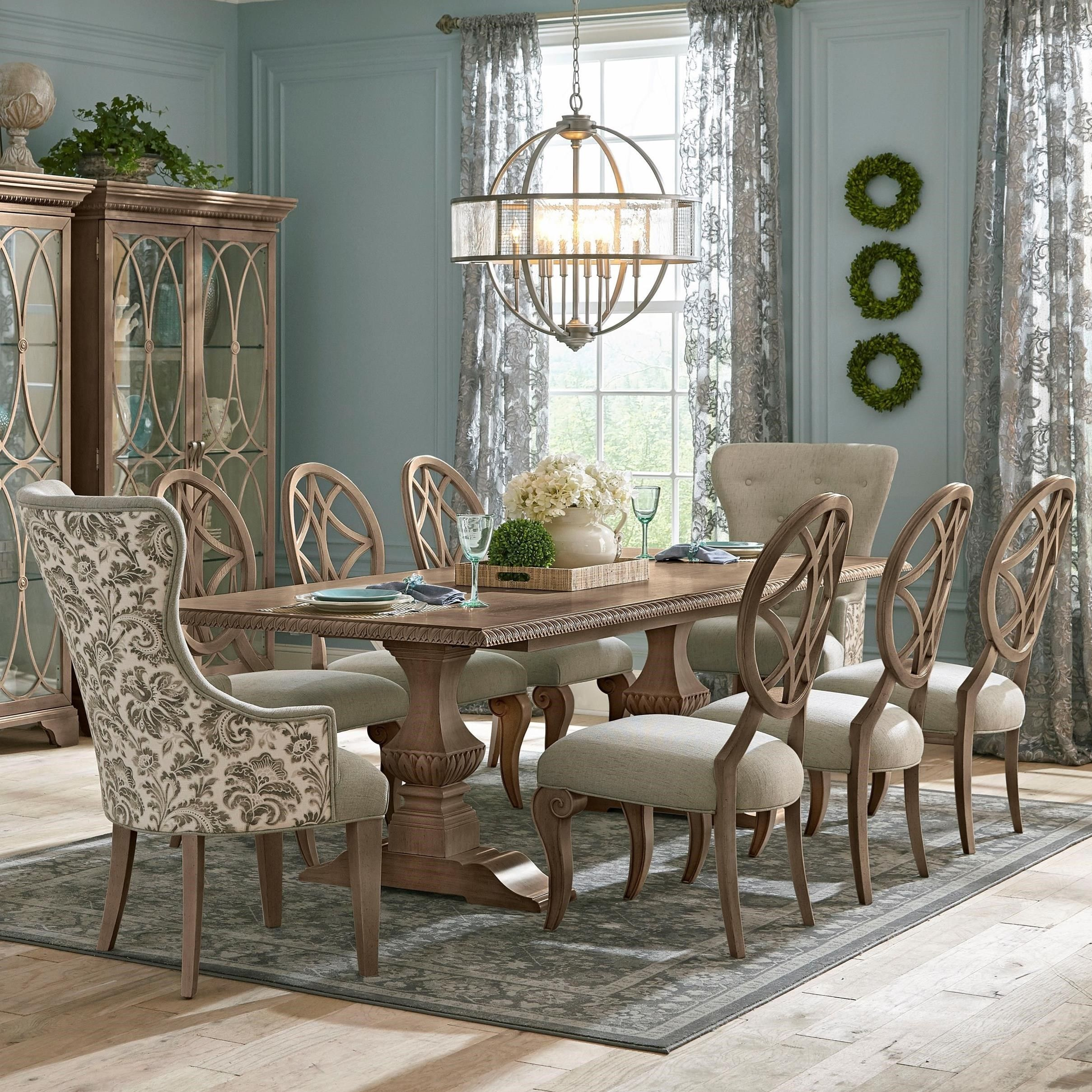 Jasper County Nine Piece Dining Set With Tillman Table And Host