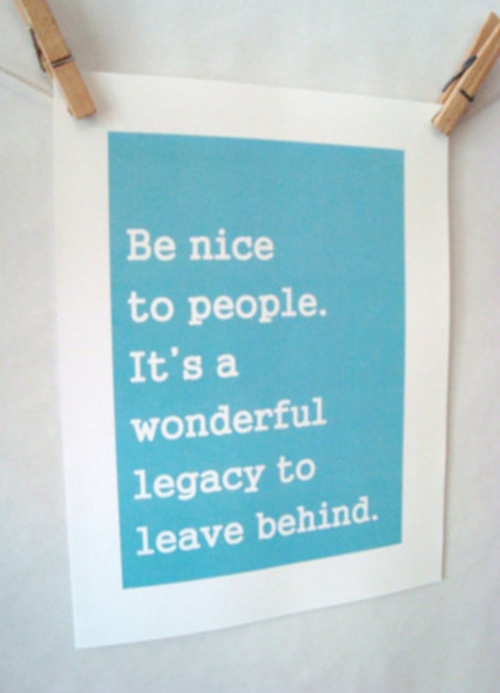 leaving a legacy.