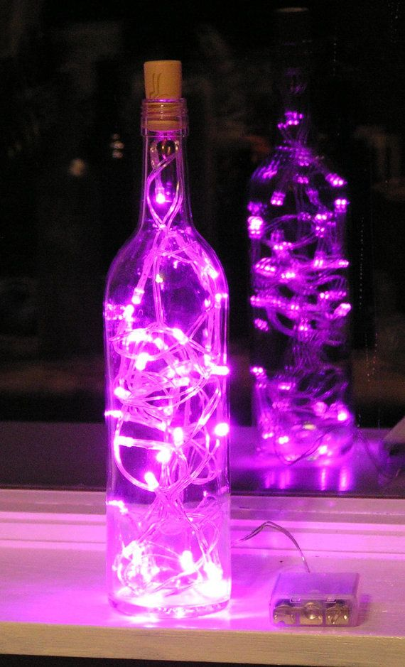 Lights In Winebottle Battery Clear Wine Bottle Light With Pink LED Stunning Decorated Wine Bottles With Lights Inside