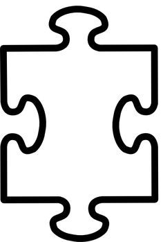 Puzzle together. Printable pieces template clipart