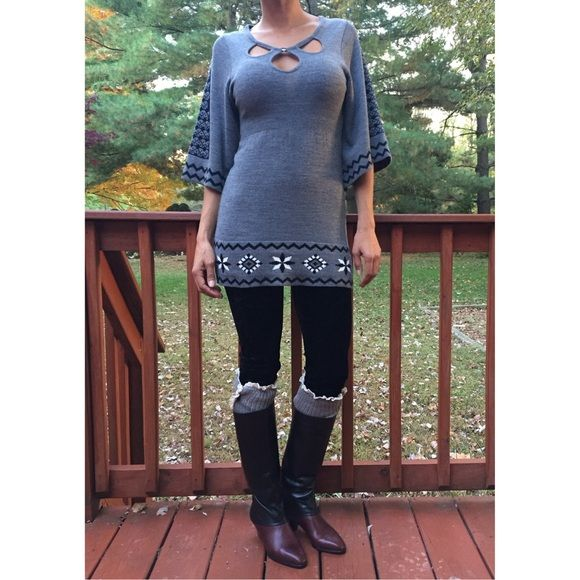 Beautiful Grey Tunic Size XS New without tags! Tops Tunics