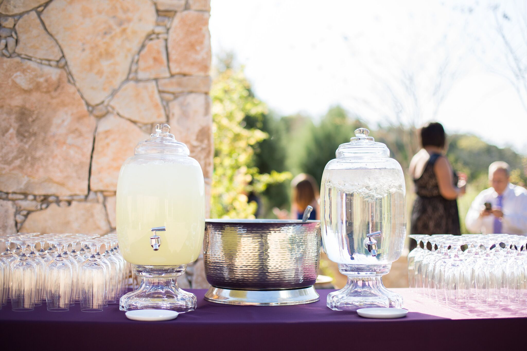 Refreshments all around | Sacred Oaks | Flora Fetish | Two Fish Photography | Camp Lucy | Wedding Venue | Destination Weddings | Hill Country | Weddings | Wedding Inspiration |