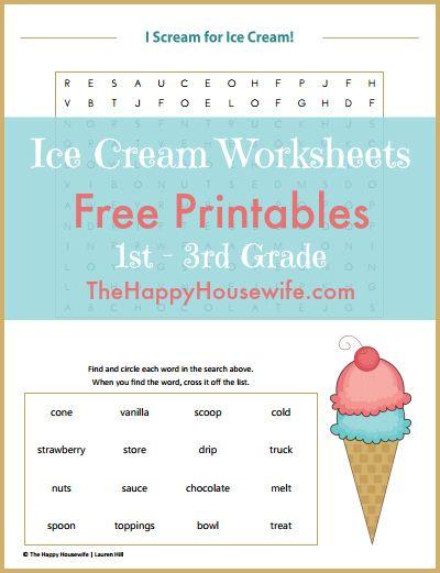Ice Cream Worksheets: Free Printables | Pinterest | Worksheets ...