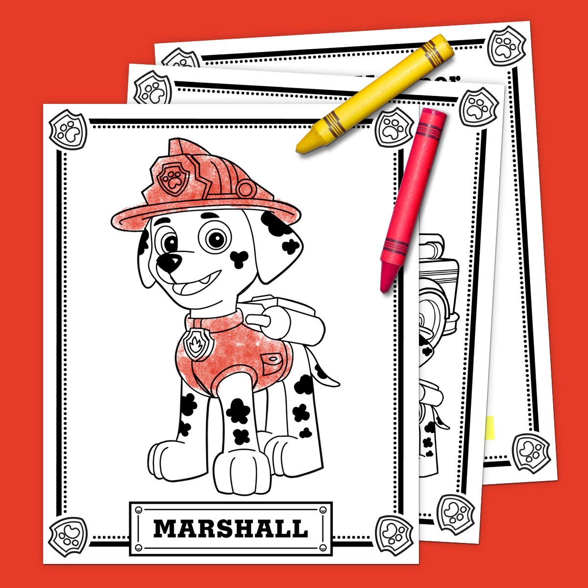 Marshall Activity Pack in 2019 Paw patrol coloring pages