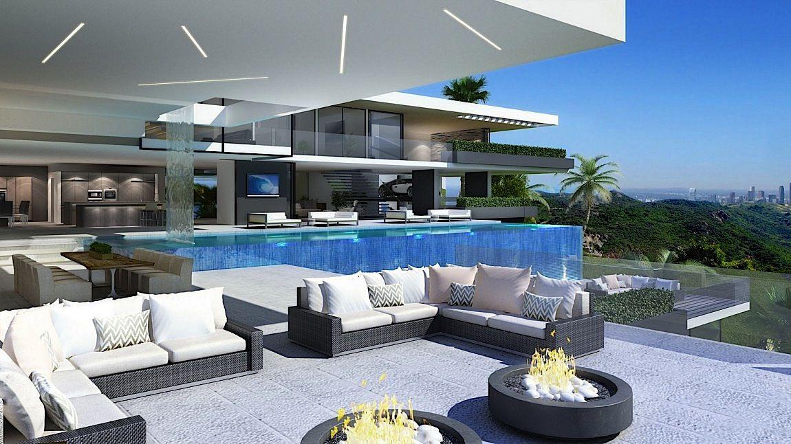 #modern #home #luxury #mansion | Sunset Plaza Dr.