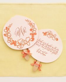 Free Fan Download! Paper, Ribbon, and Fan Handles from Craftysticks.com make this project a breeze!
