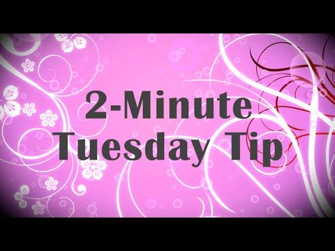 Simply Simple 2-MINUTE TUESDAY TIP - Kiss it and Make it Better by Connie Stewart - YouTube