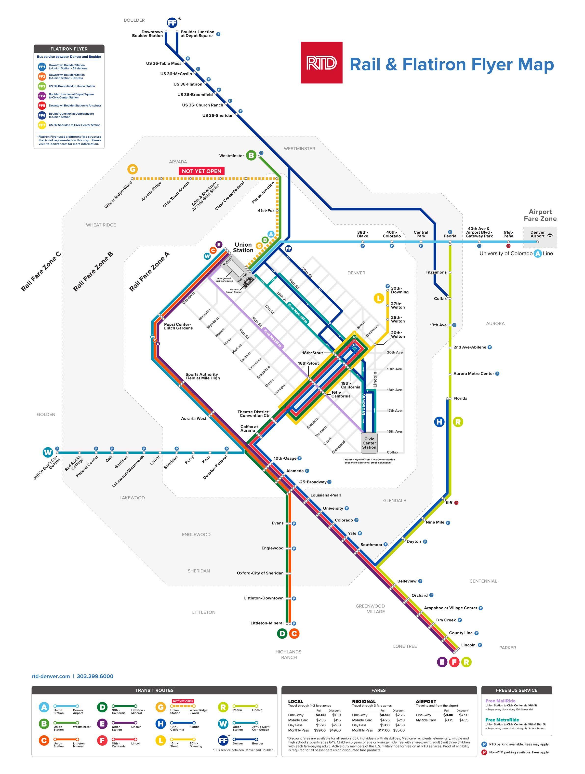 RTD | University of Colorado A Line | Denver in 2019 | Denver travel Denver Airport Hotel Map on