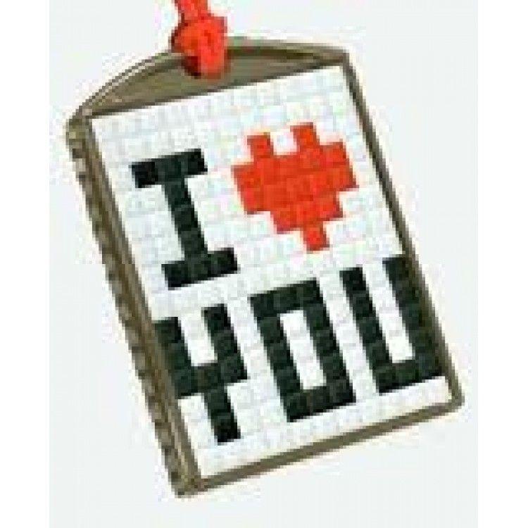 Pixelhobby medaillon transparant