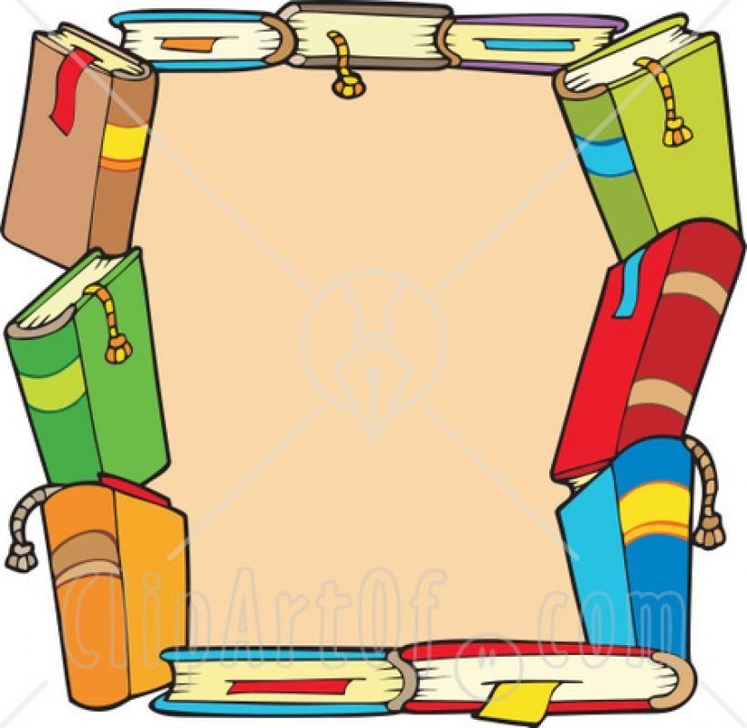 Books Border Clipart Clipart Panda Free Clipart Images Within ...