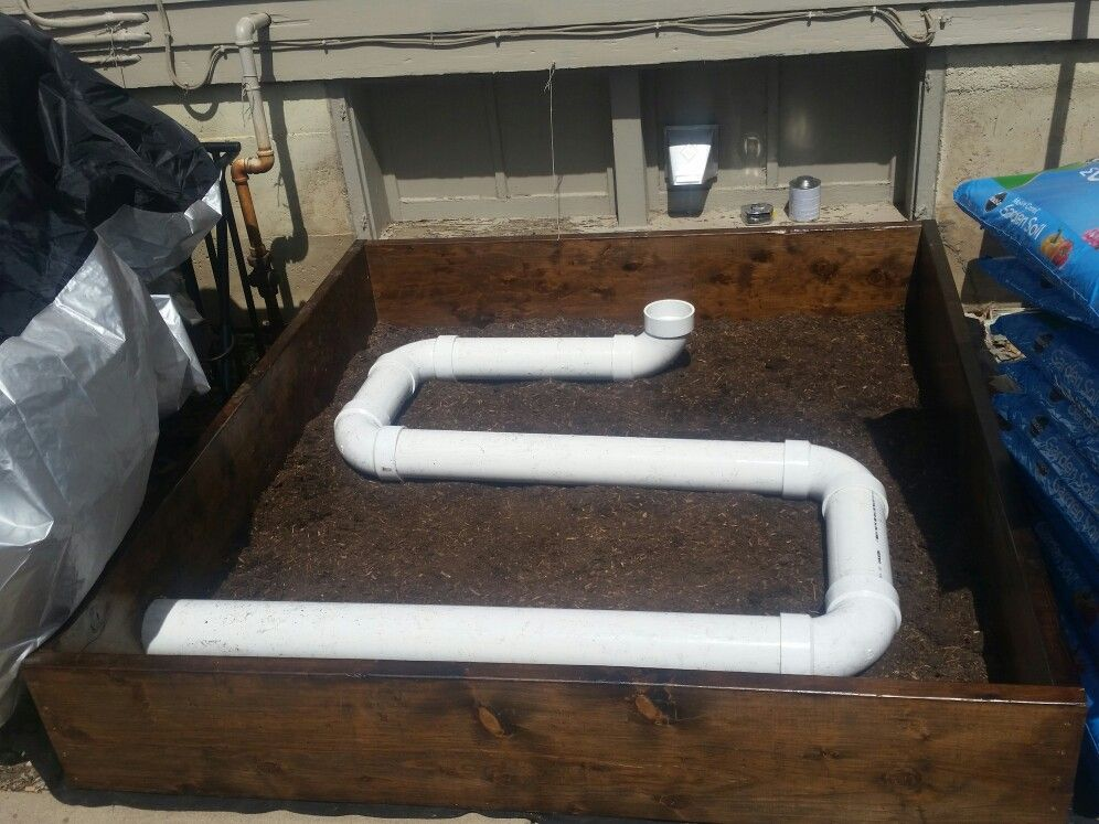 I Am Reclining My Clothes Dryer Exhaust To Heat A Raised Garden Bed Made Out Of 4 Inch Pvc This Is The Mock Up Raised Garden Beds Dryer Exhaust Garden Beds